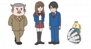 【ZIP!貝社員】3D彼女コラボ キャラクター画像(©NTV TOHO CINEMAS LTD. DLE)